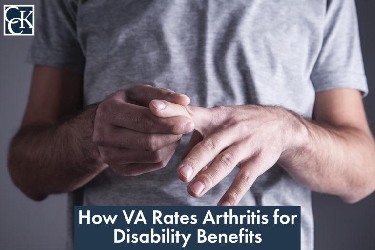 How VA Rates Arthritis for disability benefits