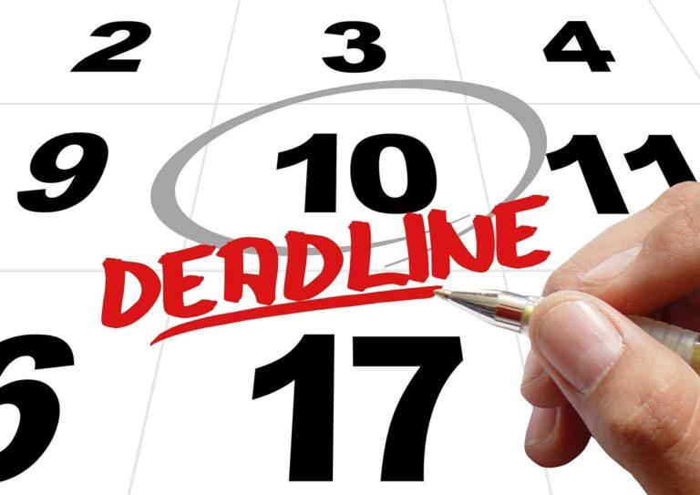 Appeals Reform deadlines