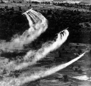 Planes dropping Agent Orange and other Herbicides in Thailand