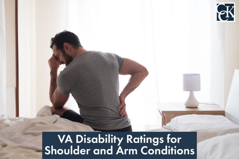 VA Disability Ratings for Shoulder and Arm Conditions