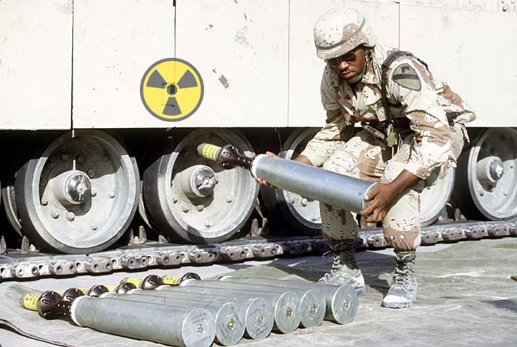 soldier working with depleted uranium gulf war I