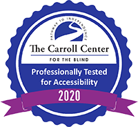 The Carroll Center - Tested for Web Accessibility