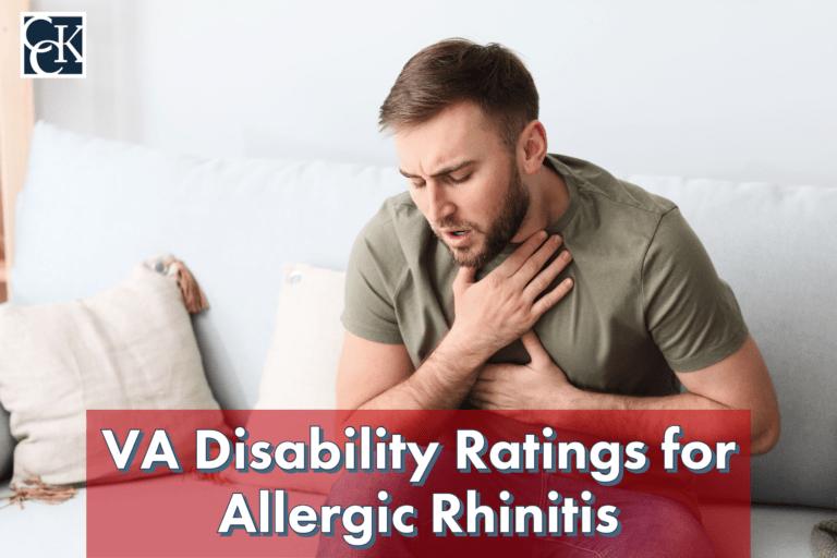 VA Disability Ratings for Allergic Rhinitis