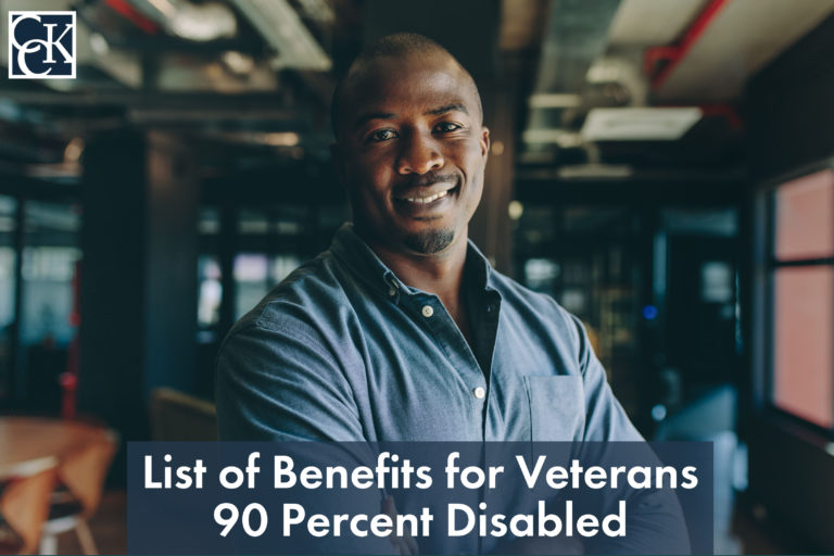 List of Benefits for Veterans 90 Percent Disabled