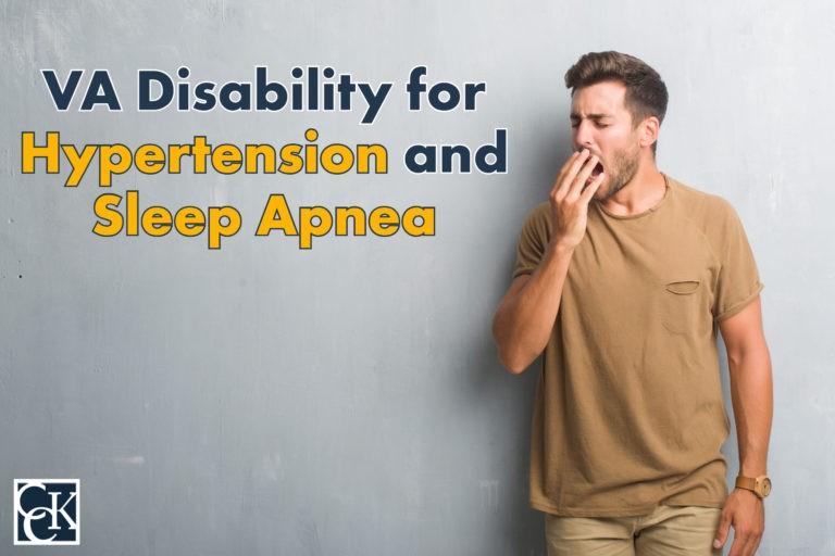 va disability ratings for hypertension and sleep apnea