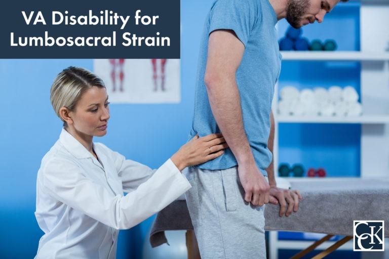 VA Disability Ratings for Lumbosacral Strain