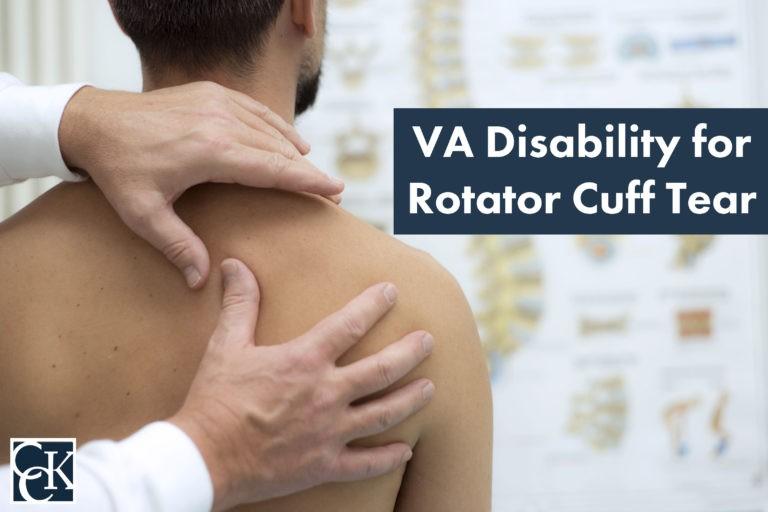 VA disability for rotator cuff tear