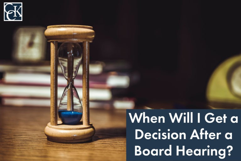 when will i get a decision after a board hearing?