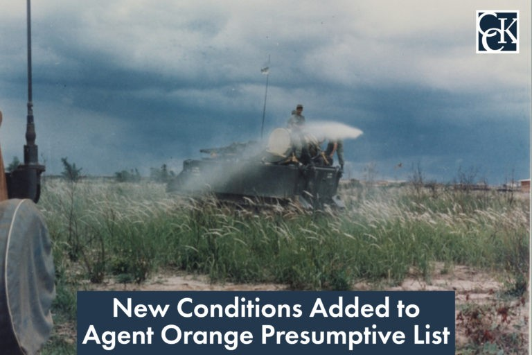New Conditions Added to Agent Orange Presumptive List