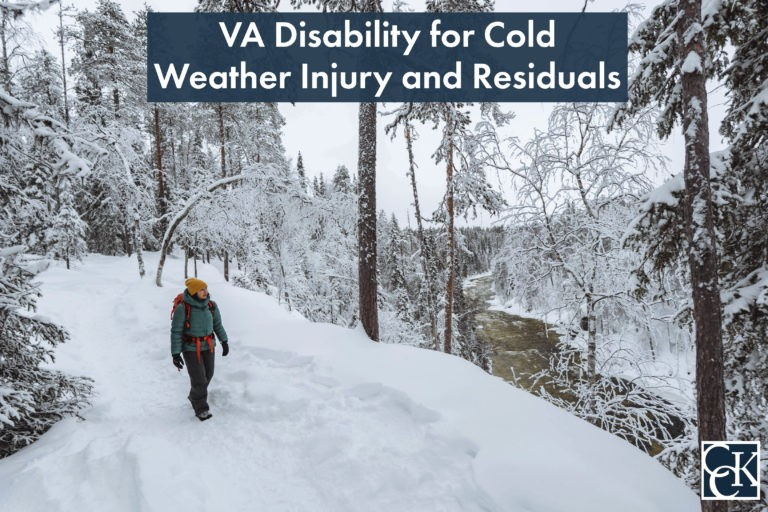 VA Disability for Cold Weather Injury and Residuals