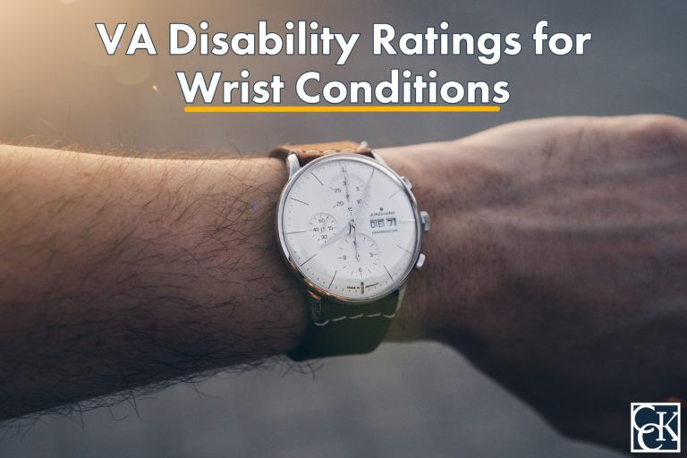 VA Disability Ratings for Wrist Conditions
