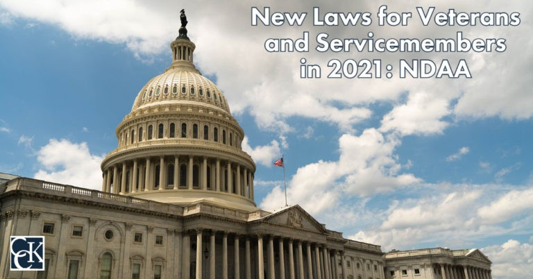 New Laws for Veterans and Servicemembers in 2021 NDAA