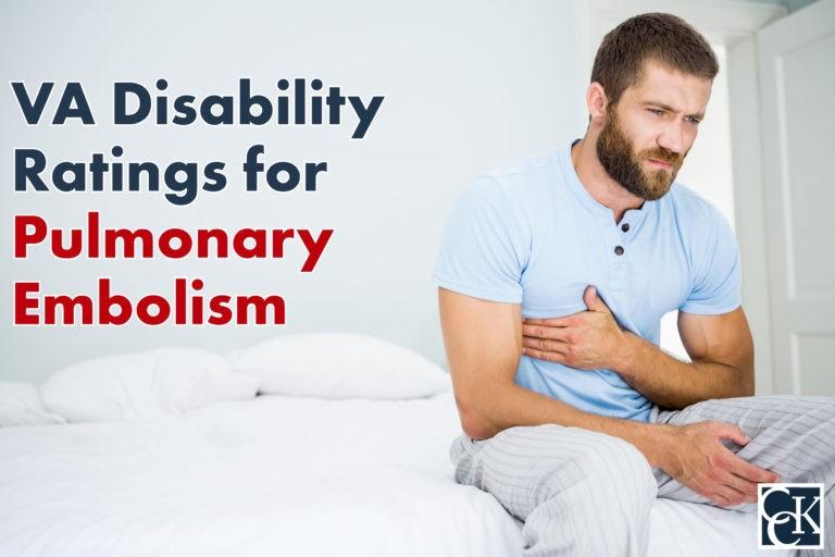 VA Disability Ratings for Pulmonary Embolism