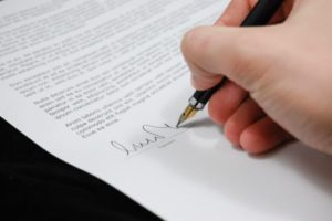person signing bill